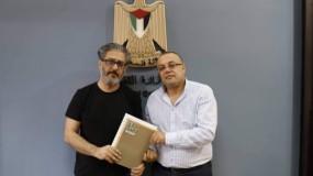 أبو سيف يوقع اتفاقية دعم مع مؤسسة فيلم لاب فلسطين