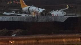 تحطم طائرة في مطار صبيحة باسطنبول ونجاة جميع ركابها