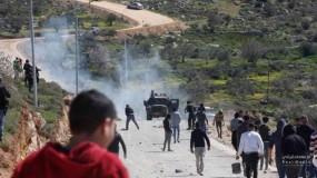 إصابات جراء قمع جيش الاحتلال للمسيرات السلمية في مناطق متفرقة بالضفة الغربية