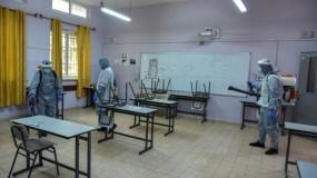 تُعقّم مدارس المدينة استعداداً لتقديم امتحانات الثانوية العامة