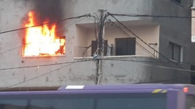 إصابات بالاختناق بحريق اندلع بشقة سكنية في خانيونس