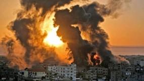 طائرات الاحتلال تقصف مواقع تابعة للمقاومة بقطاع غزة
