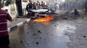 شهيدان في استهداف الاحتلال لسيارة مدنية في منطقة الصفطاوي شمال قطاع غزة