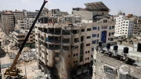 """""""الأشغال"""" بغزة : قرار بإزالة أربع عمارات سكنية جديدة بشارع الوحدة"""