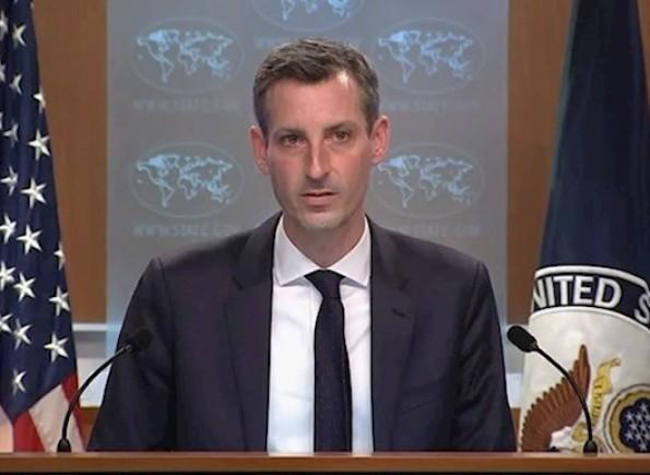 الخارجية الأمريكية: سنسعى لتحقيق السلام بين الفلسطينيين والإسرائيليين