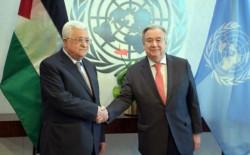 غوتيريش يتعهد بمواصلة العمل لإقامة دولة فلسطينية ذات سيادة