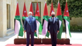 الرئيس عباس يجتمع مع الملك عبد الله في الأردن