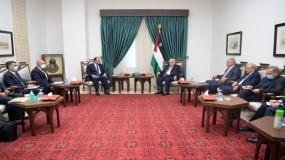 لقاء الرئيس عباس ورئيس المخابرات المصرية في رام الله