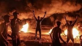 إصابات برصاص الاحتلال خلال فعاليات الارباك الليلي شرقي غزة