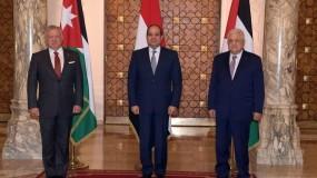 بدء أعمال القمة الثلاثية بين الرئيس عباس ونظيره المصري وملك الأردن