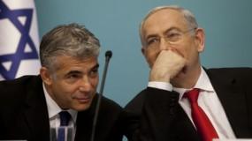 """لابيد يطالب """"عدم تجاهل طلب الرئيس الامريكي بالتوصل الى تهدئة في قطاع غزة"""""""