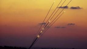 اطلاق صواريخ من قطاع غزة والقبة الحديدية تعترض..واجتماع طارئ للكابينت الإسرائيلي