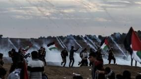 إصابات وجرحى في مواجهات الاحتلال الاسبوعية بالضفة وغزة
